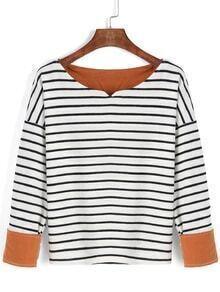 Long Sleeve Striped White T-shirt