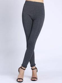 Elastic Waist Slim Grey Leggings