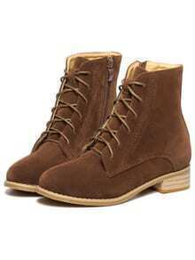 Brown Lace Up Vintage Boots