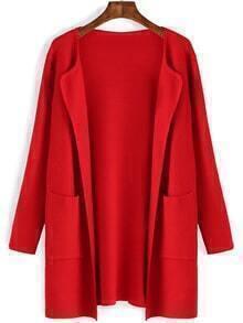 Pockets Long Red Coat