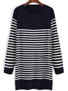 Striped Long Navy Sweater