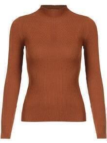 Mock Neck Slim Knitwear