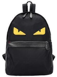 Black Eye Patterned Backpack