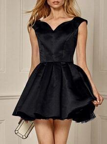 Black Sleeveless Flare Dress