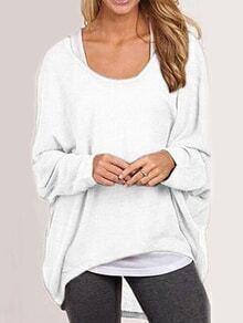 High Low Loose White T-shirt