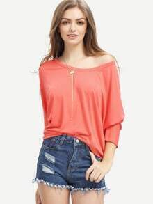 High Low Loose Melon T-shirt
