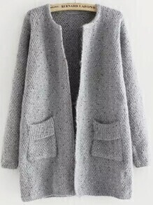 Pockets Long Grey Coat