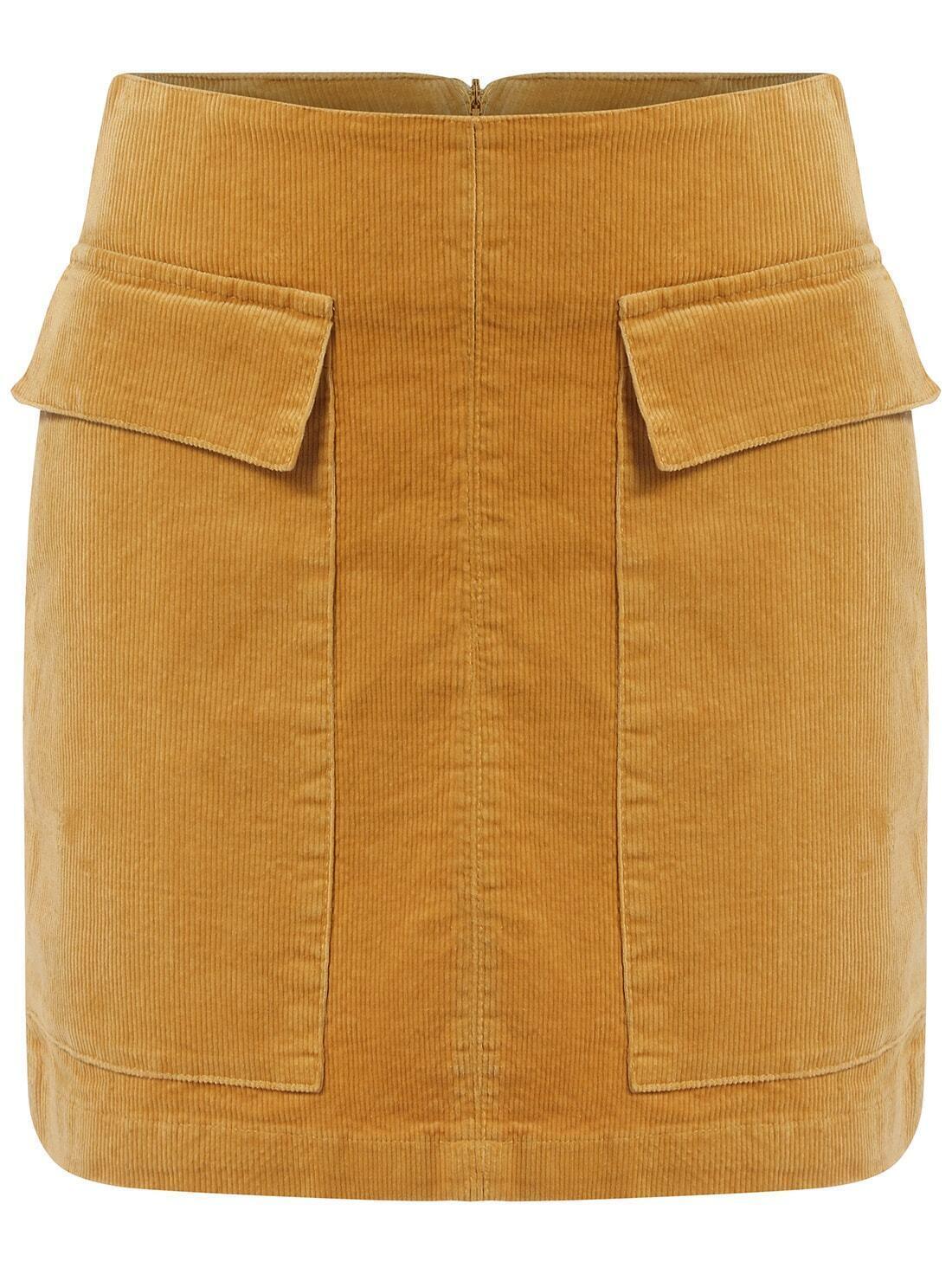 pockets a line skirt