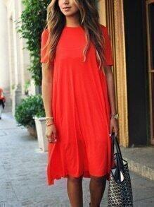 Short Sleeve Casual Tunic Dress