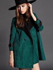 manteau avec collet manches longues - vert