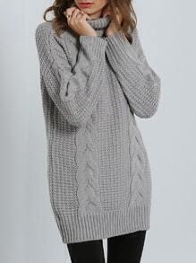 Grey High Neck Sweater