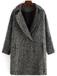 Lapel Slit Loose Grey Coat