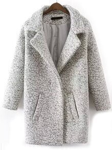 Lapel Edge Pockets Long Coat
