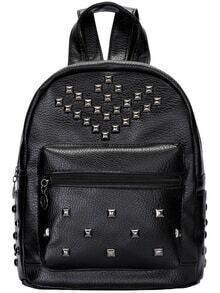 Black Studded PU Bag