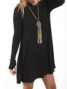 Women Black Long Sleeve Dress