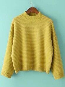 Mock Neck Dolman Green Sweater