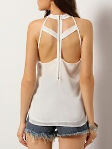 Hollow Split Side Tank Top