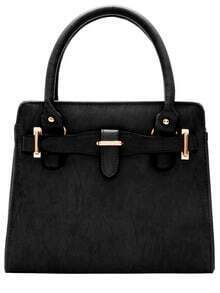 Black Classic Metal Embellished Tote Bag