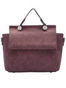 Pink Zipper Classic PU Shoulder Bag