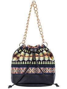 Colour Drawstring Chain Bucket Bag