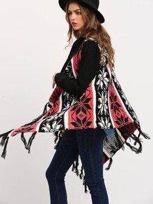 Jersey manga larga geométrico -multicolor