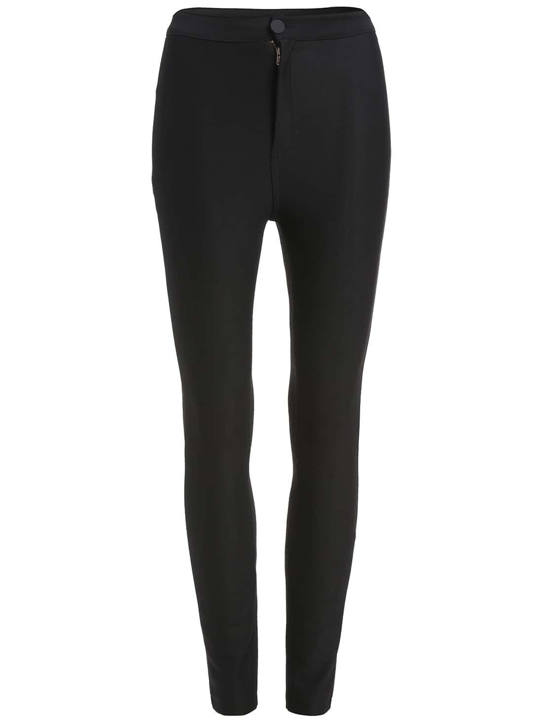 Black Back Pocket Skinny Pants