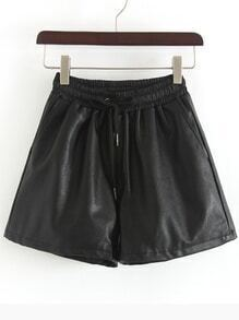 Elastic Waist Drawstring Shorts With Pockets