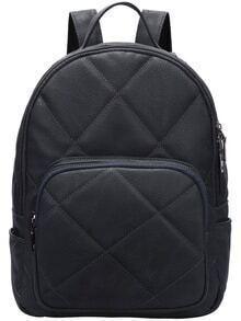 Dark Gray Diamond PU Backpacks