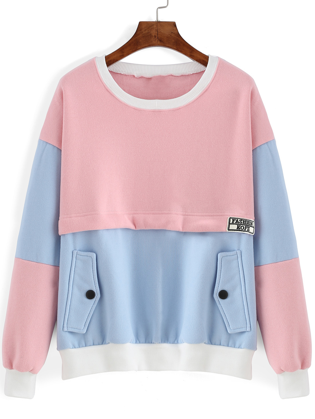 Blue And Pink Hoodie - Hardon Clothes