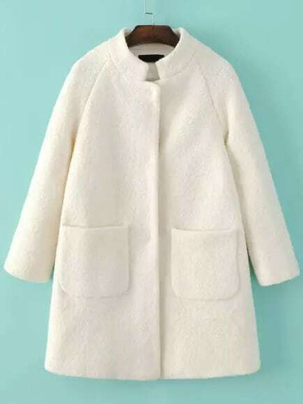 Stand Collar Loose Coat With Pockets