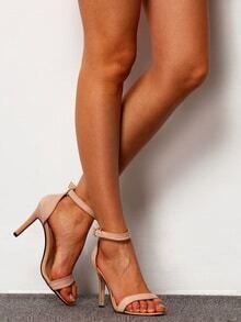 Apricot Peep-toe High Stiletto Heel Sandals