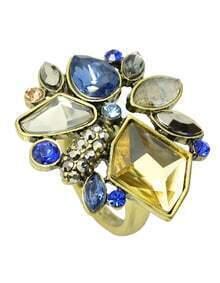 Fashion Vintage Style Colorful Rhinestone New Design Rings