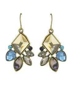 Colorful Rhinestone Drop Earrings Jewelry Fashion