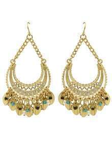 Gold Plated Rhinestone Wedding Chandelier Earrings Jewelry Fashion