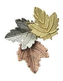 Multicolors Leaf Shape Women Brooch