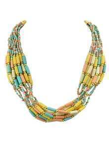 Bohemian Style Multilayers Colorful Small Beads Necklace