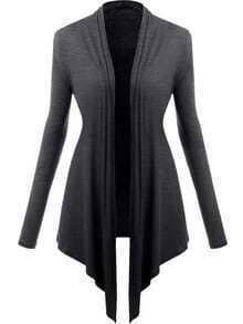 Long Sleeve Asymmetrical Grey Coat