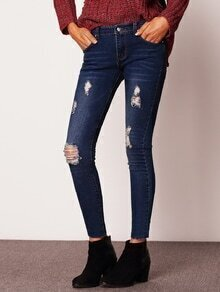 Women Ripped Denim Pant