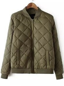 Diamondback Zipper Padded Coat