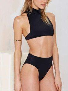 High Neck Crop Bikini Set