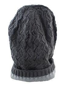 Fashionable Woolen Grey Ladies Knitted Beanie Hat