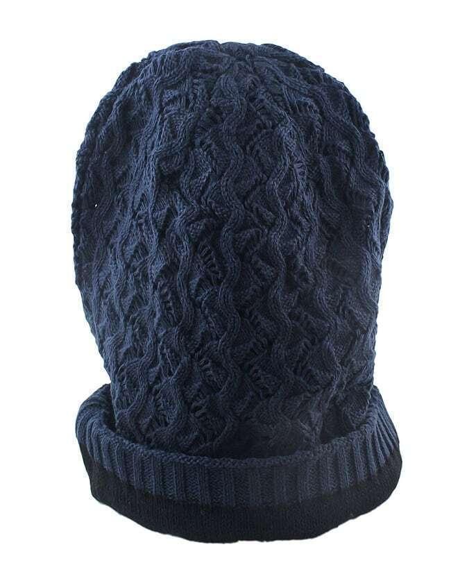 chapeau en laine en vogue f minin bleu marin french romwe. Black Bedroom Furniture Sets. Home Design Ideas