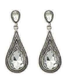 Vintage Simple Stone Drop Earrings for Women
