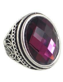 Purple Big Single Stone Ring