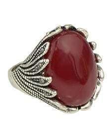 Red Single Big Stone Ring Designs