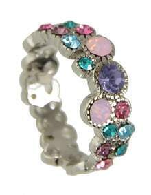 Silver Rhinestone New Design Ladies Finger Ring