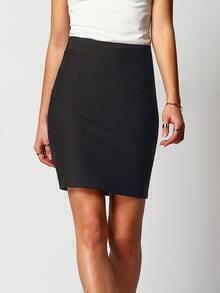 Elastic Waist Split Back Bodycon Skirt
