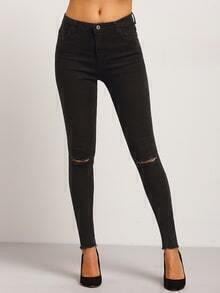 Ripped Frayed Denim Skinny Pant