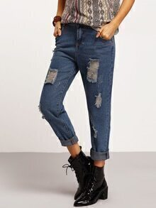 Ripped Scratch Denim Pant