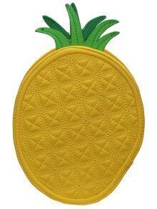 Yrellow Pineapple Shape PU Bag
